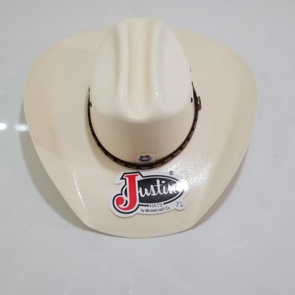 6bf2247127c29 Justin Hats 10x straw cowboy hat NWT 7 1 8